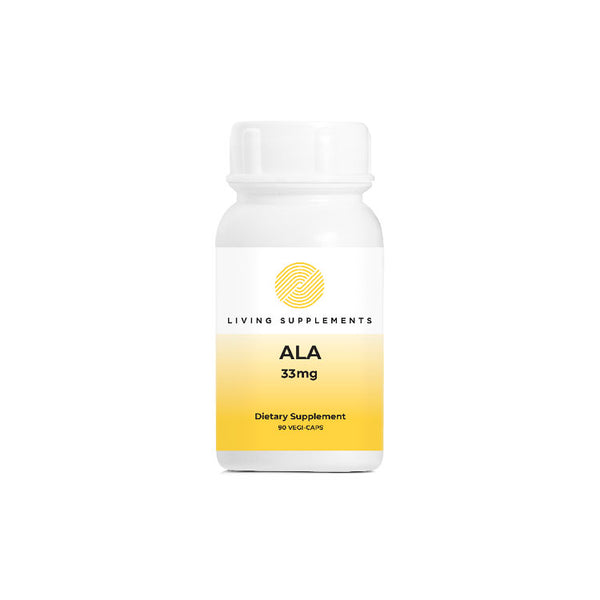 ALA 33mg 90 Capsules by Living Supplements