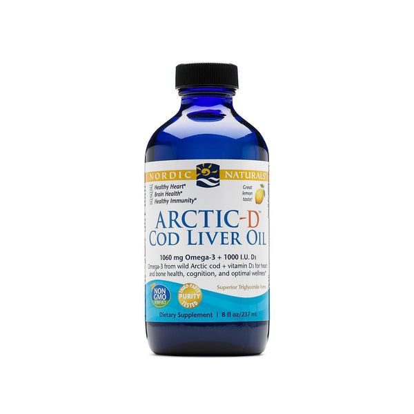 Artic-D Cod Liver Oil with Vitamin D (Lemon Flavour) 8oz by Nordic Naturals