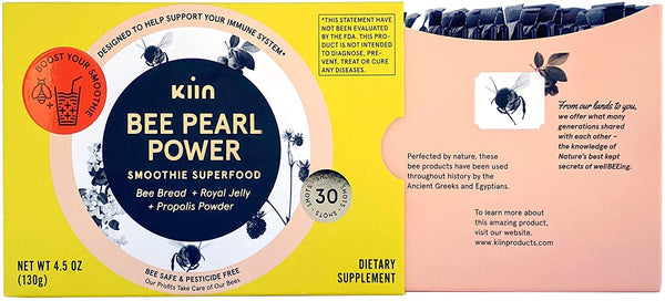 Bee Pearl Power - Smoothie Superfood, 30 Smoothie Shots by Kiin