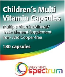 Children's Multi-Vitamin Capsules (180 Capsules) by Everything Spectrum