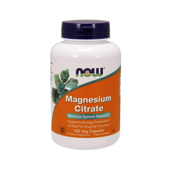 Magnesium Citrate 120 Capsules by NOW