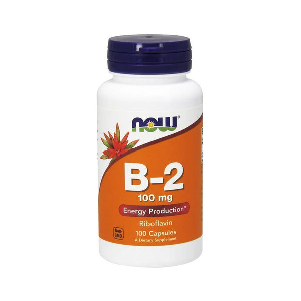 Vitamin B2 (Riboflavin) 100mg 100 Capsules by NOW