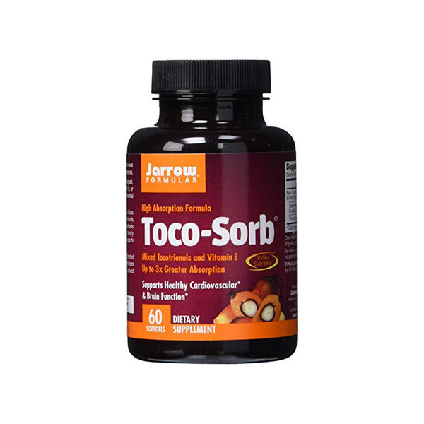 Toco-Sorb  Mixed Tocotrienols and Vitamin E (Soy Free) by Jarrow 60 Softgels