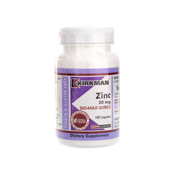 Zinc Citrate 20mg 100 capsules by Kirkman