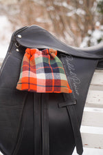Load image into Gallery viewer, Plaid Flannel Custom Reversible Stirrup Covers