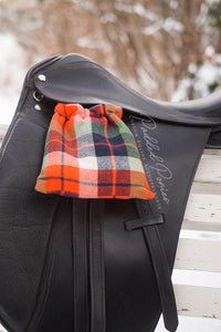 Plaid Flannel Custom Reversible Stirrup Covers