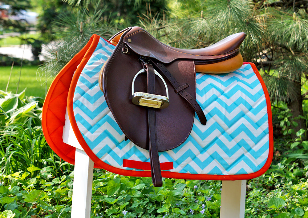 Custom Saddle Pad Zig Zag/Chevron
