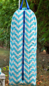 Custom Zig Zag/Chevron Prints Bridle Bag