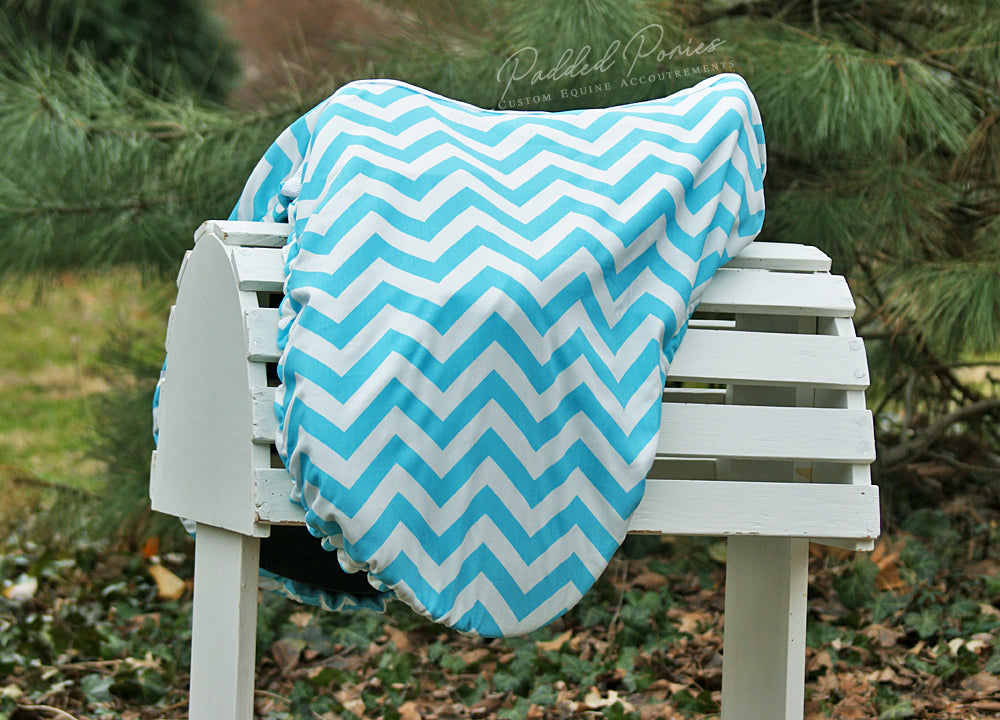 Custom Fleece Lined Zig Zag/Chevron Saddle Cover