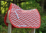 Load image into Gallery viewer, Custom Saddle Pad Zig Zag/Chevron
