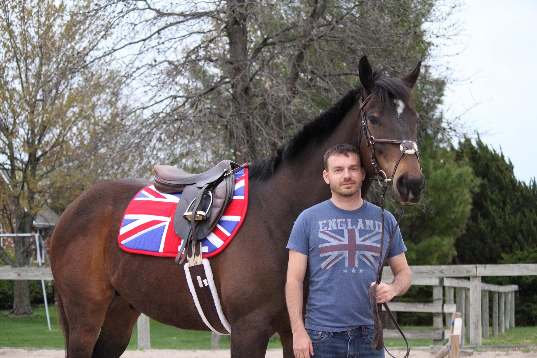 Custom Saddle Pad Country Flag - Padded Ponies