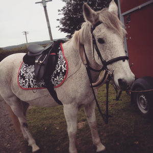 Custom Saddle Pad Damask - Padded Ponies