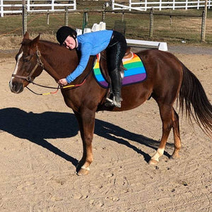 Custom Saddle Pad LGBTQ+ Pride - Padded Ponies
