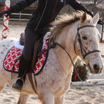 Load image into Gallery viewer, Custom Saddle Pad Squares/Knots Print - Padded Ponies