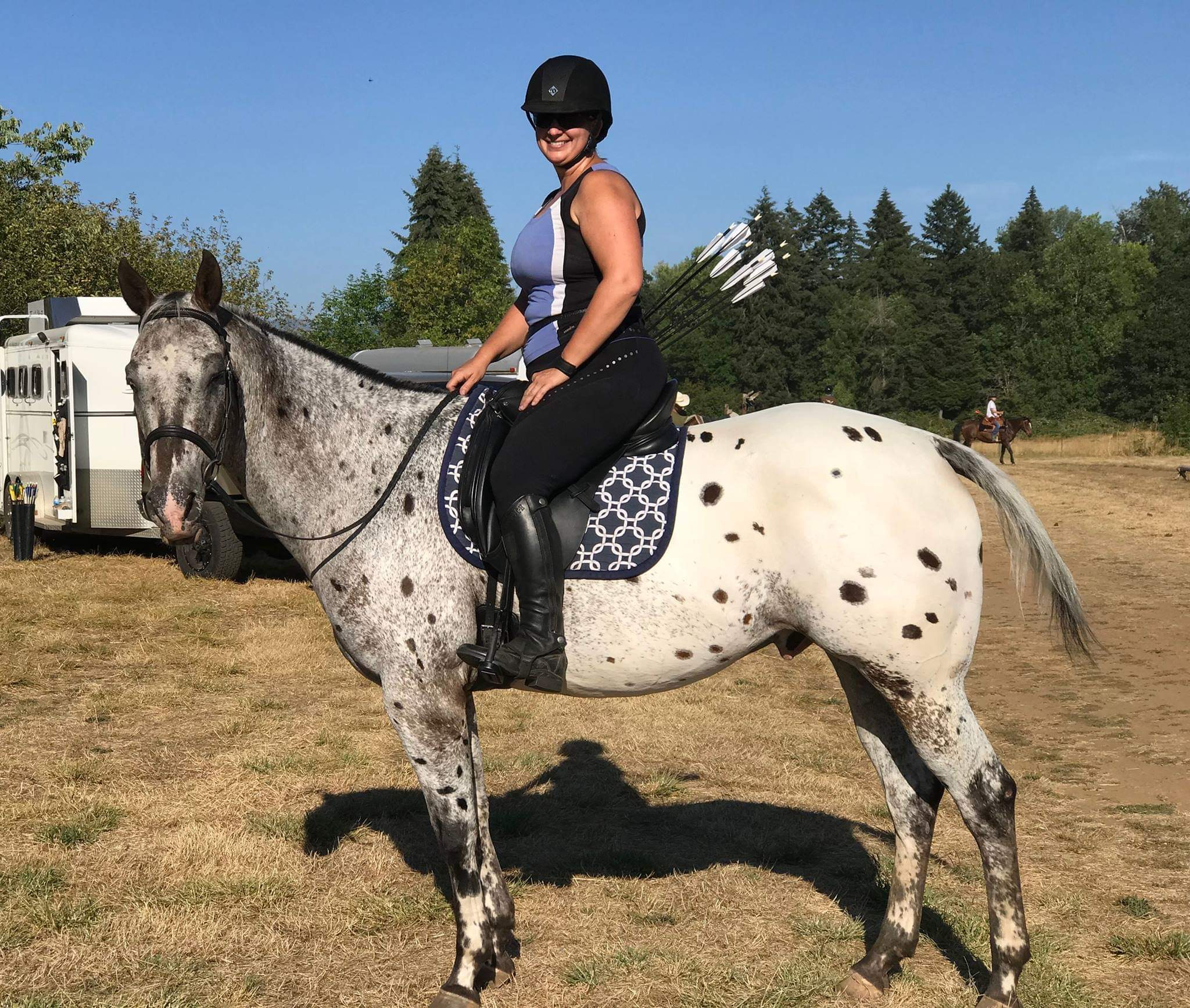Custom Saddle Pad Squares/Knots Print - Padded Ponies