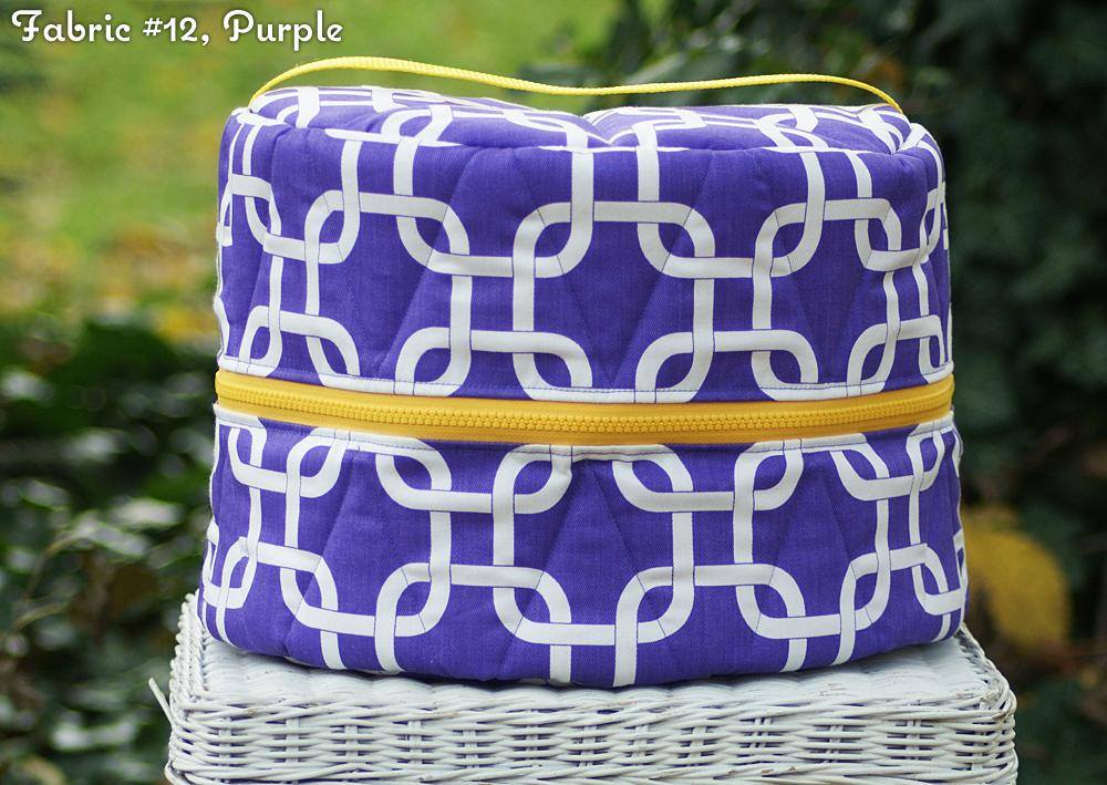Custom Squares/Knots Round Helmet/Hat Bag - Padded Ponies