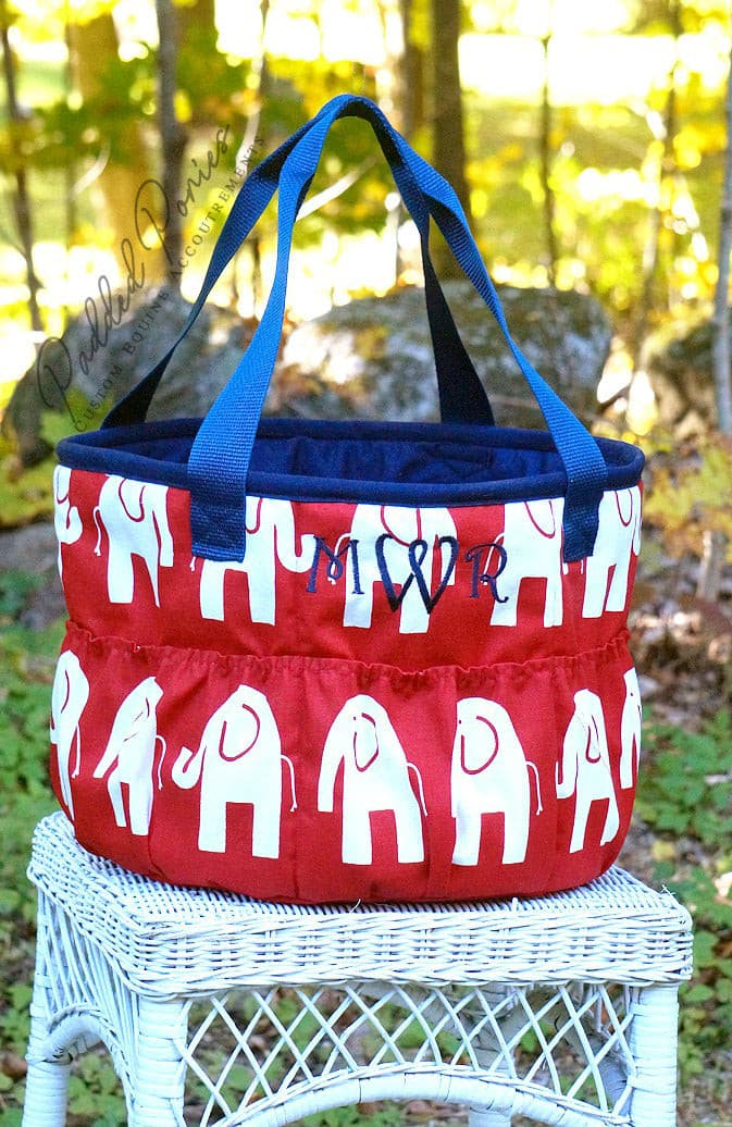 Custom Elephants Large Groom Bag/Tote