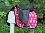 Load image into Gallery viewer, Custom Saddle Pad Giraffes