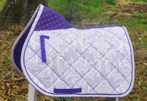 Custom Saddle Pad Damask
