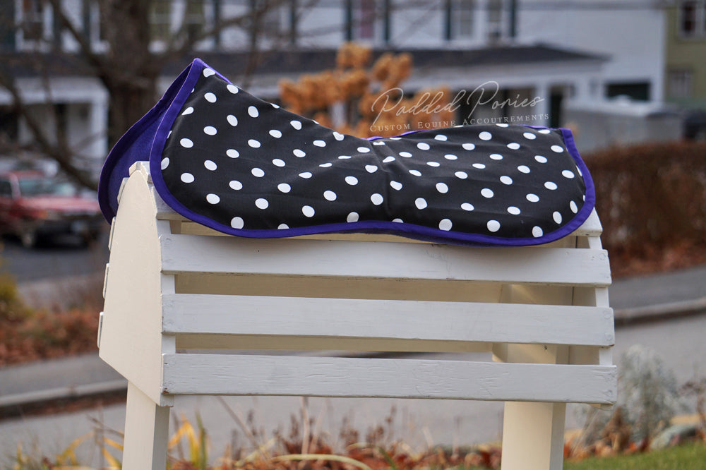 Custom Polka Dot Comfort Memory Foam Half Pad and/or Cover