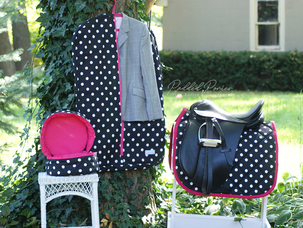 Custom Polka Dot Hanging Garment Bag