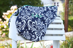 Load image into Gallery viewer, Custom Fleece Lined Damask Print Saddle Cover