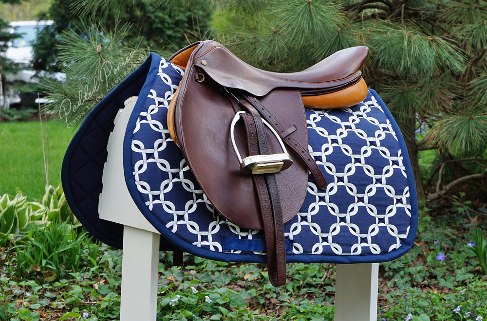 Custom Saddle Pad Squares/Knots Print