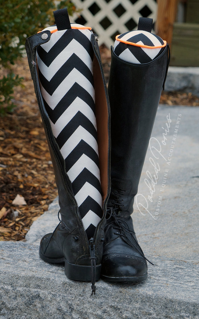 Custom Zig Zag/Chevron English Boot Trees/Stuffers