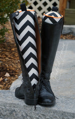 Load image into Gallery viewer, Custom Zig Zag/Chevron English Boot Trees/Stuffers