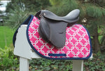 Load image into Gallery viewer, Custom Saddle Pad Squares/Knots Print