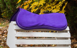 Ready to Ship Solid Purple Suede Comfort Memory Foam Half Pad with Lavender