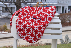 Custom Fleece Lined Squares/Knots Saddle Cover