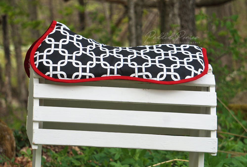 Custom Squares/Knots Comfort Memory Foam Half Pad and/or Cover