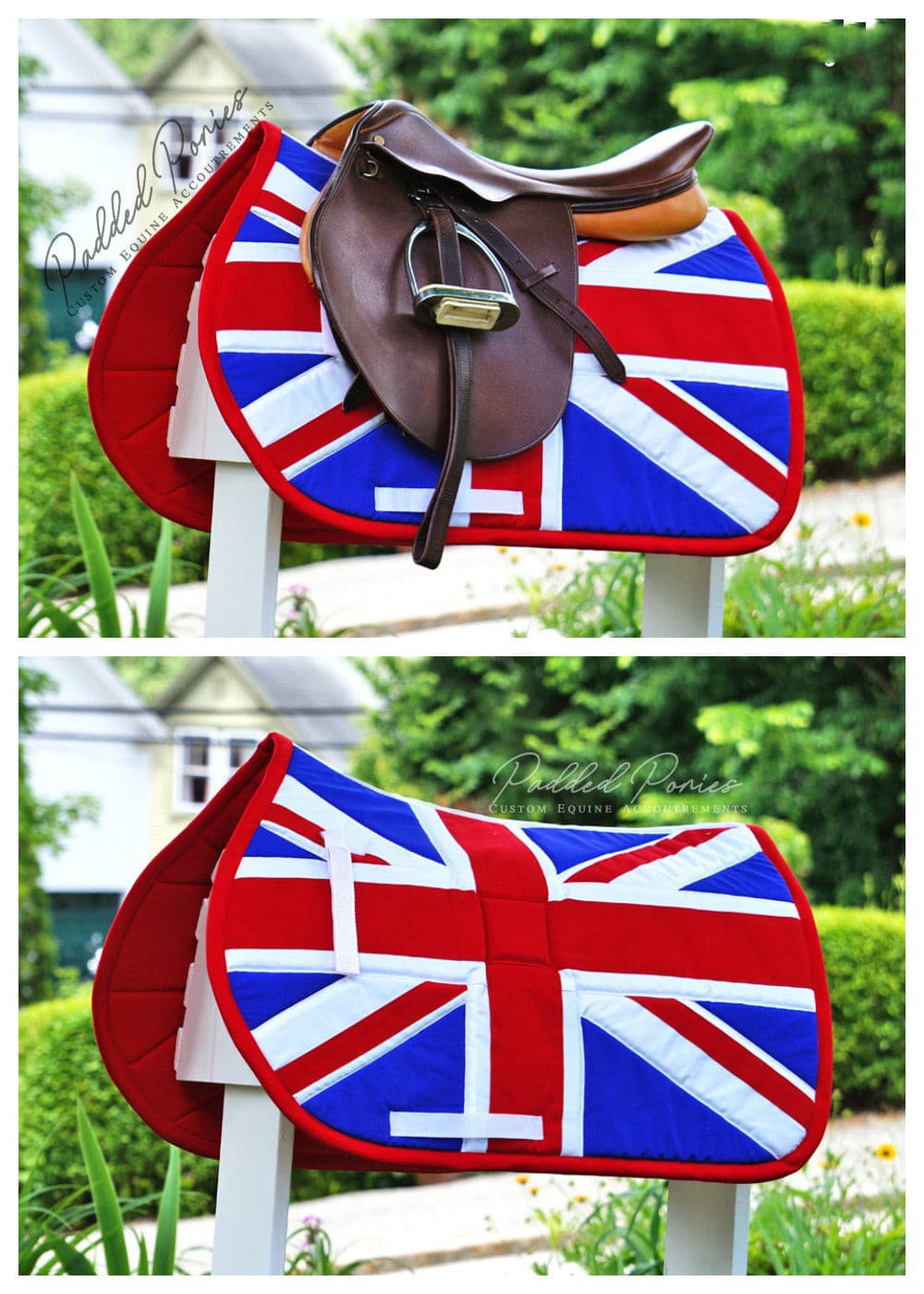 Custom Saddle Pad Country Flag