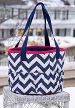 Load image into Gallery viewer, Custom Zig Zag Large Groom Bag/Tote