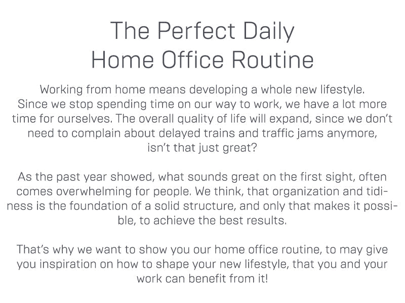 The Perfect Daily Home Office Routine