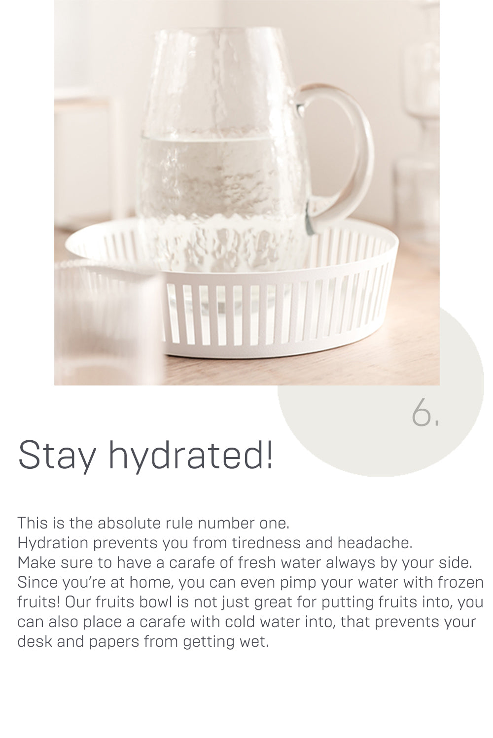 Stay hydrated!