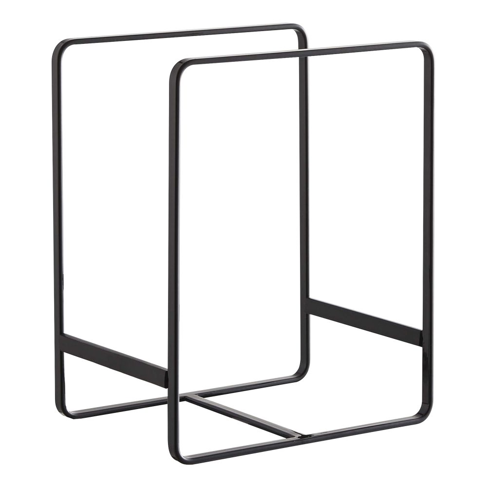 Yamazaki's cube-shaped dish storage rack black
