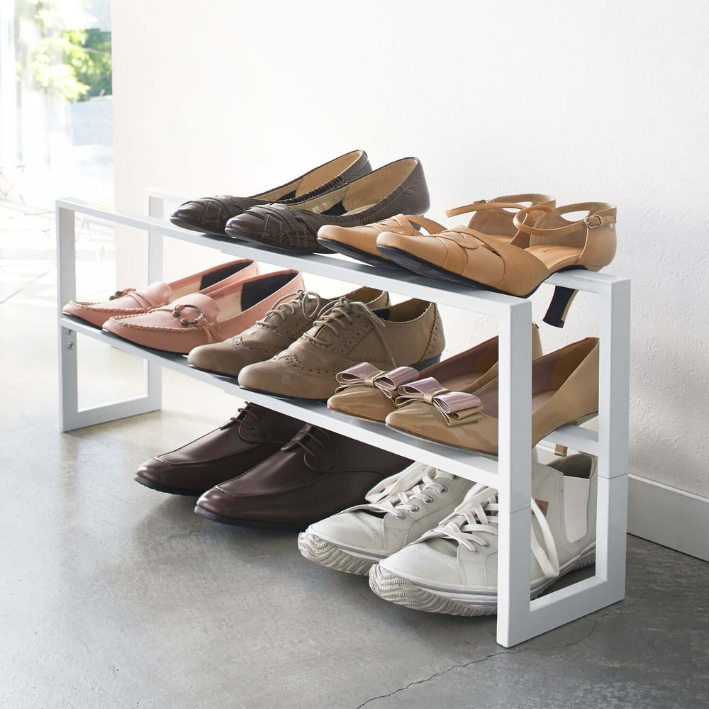 2-Tiered Extendable Shoe Rack