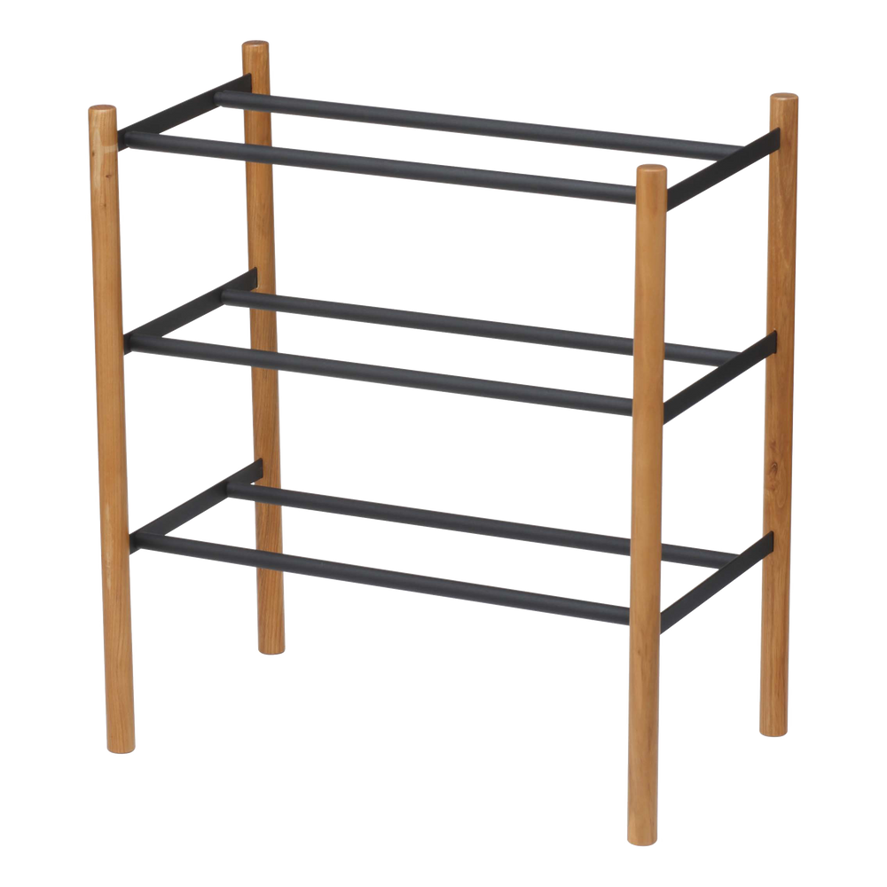 Shoe rack with three levels from Yamazaki