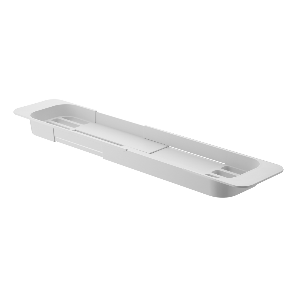 Yamazaki Expandable Bathtub Caddy in white