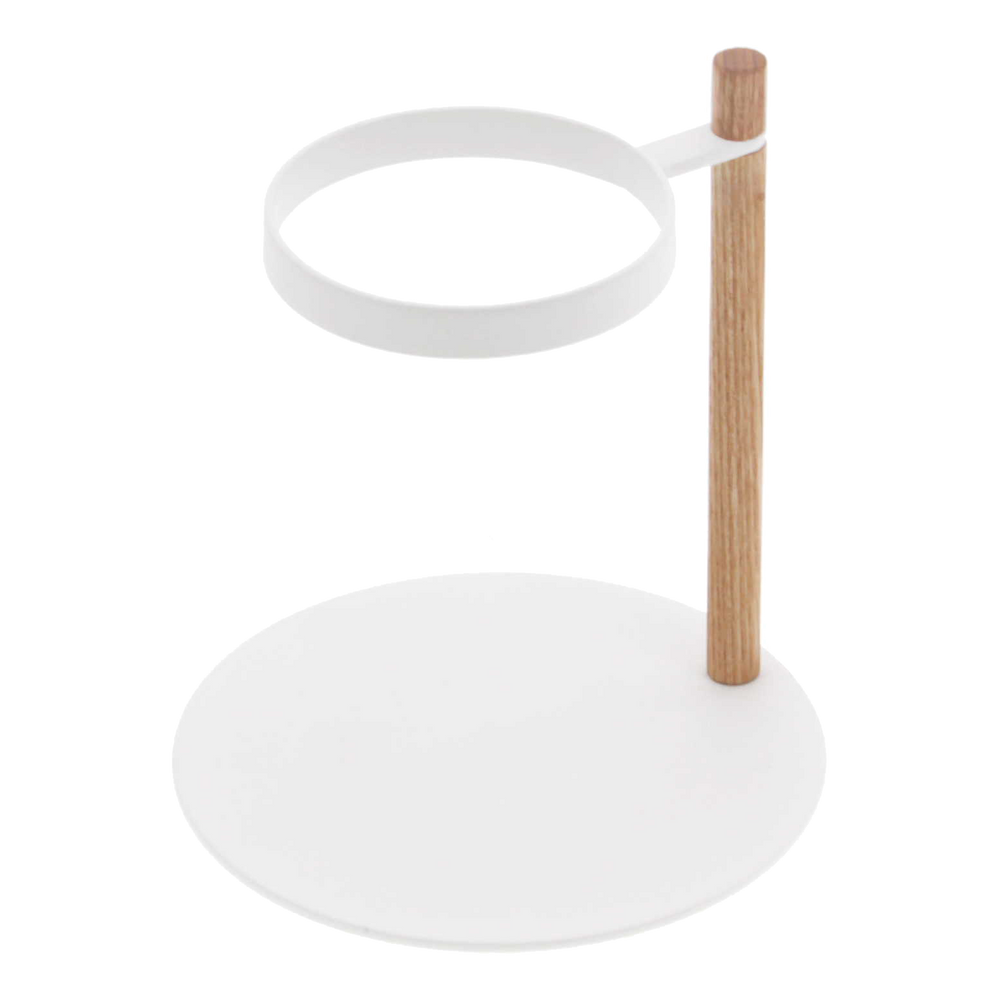 Product image of white steel and wooden Yamazaki Pour-Over Dripper Stand