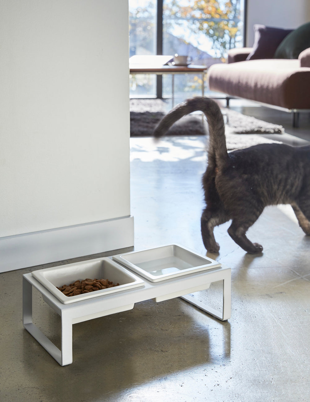 Pet Food Bowl Stand Set