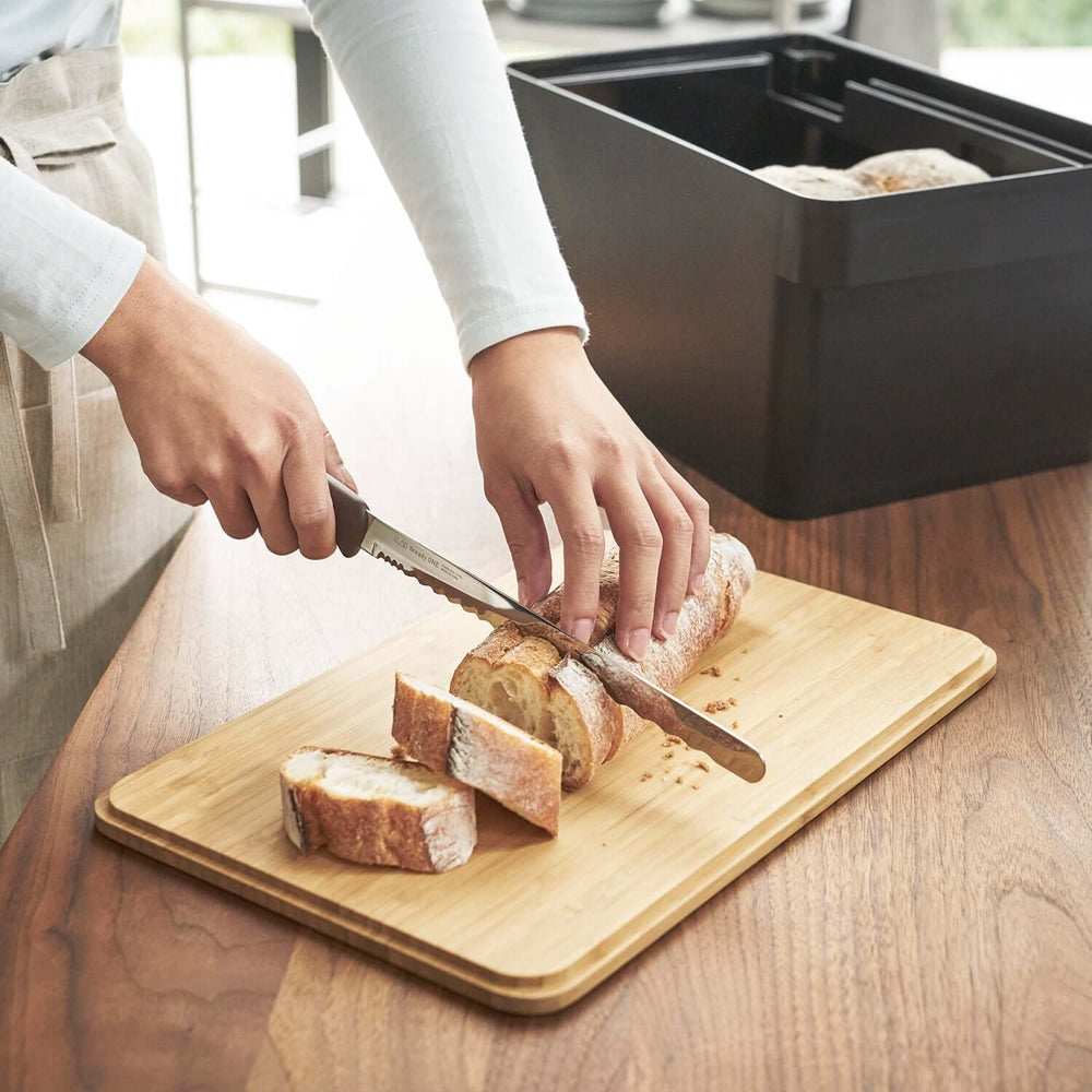 Bread Case With Knife Holder