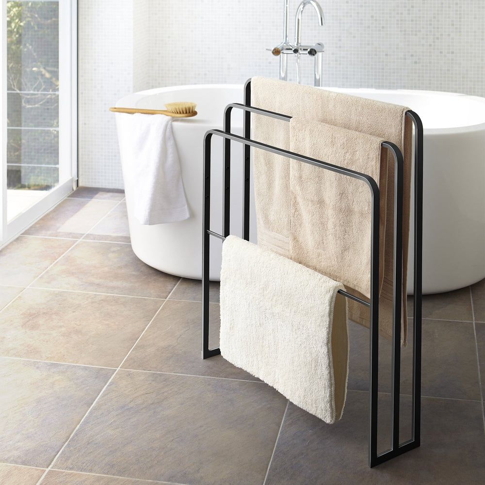 Bath Towel Hanger With 3 Bars