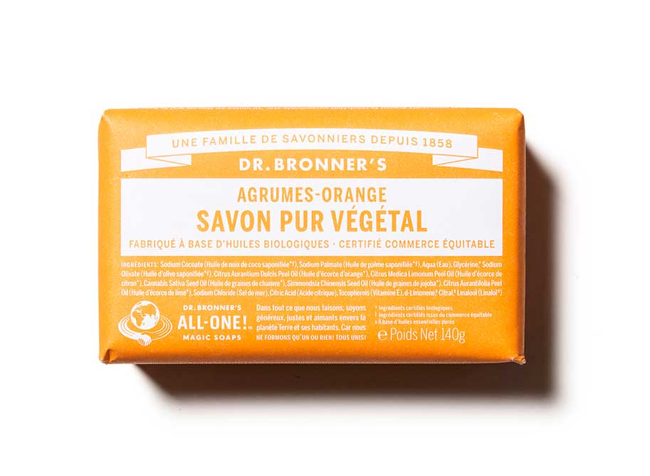 PAIN DE SAVON AGRUMES-ORANGE - DR BRONNER'S