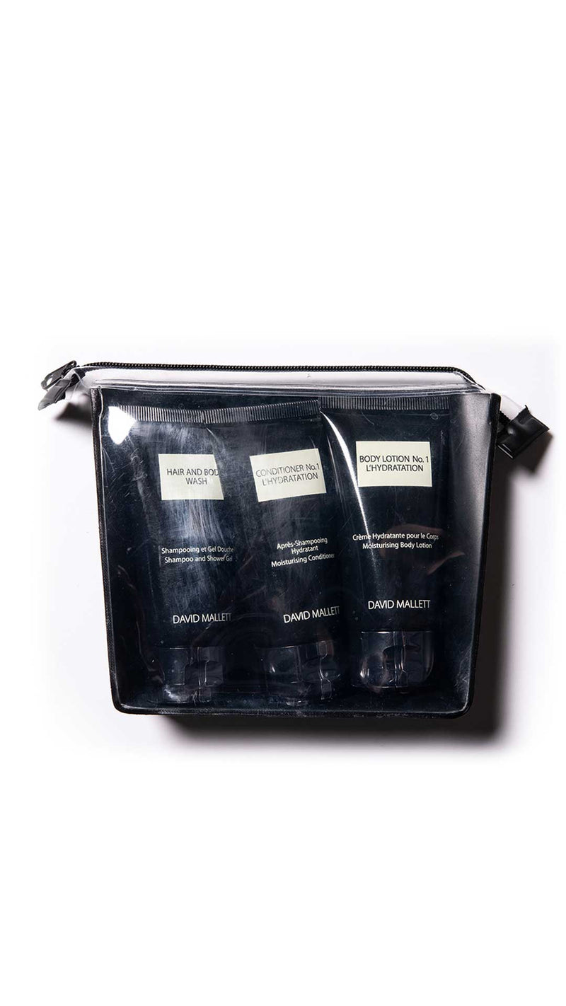 Travel kit - conditioner/hair and body wash/body lotion -