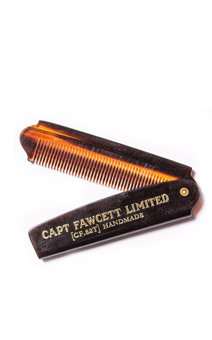 FOLDING POCKET BEARD COMB - PEIGNE À BARBE  - CAPTAIN FAWCETT