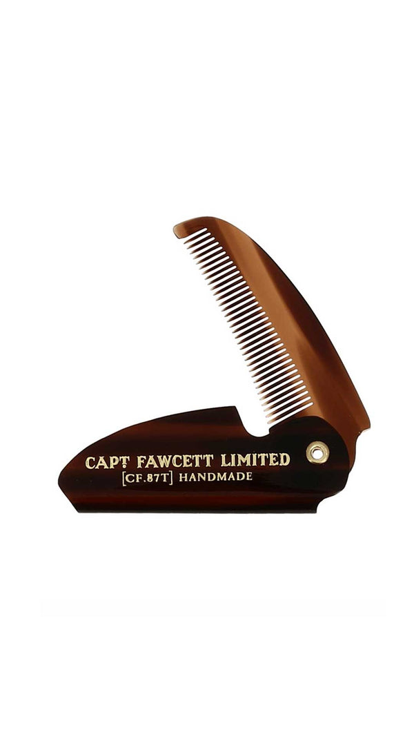 FOLDING POCKET BEARD COMB - PEIGNE À MOUSTACHE - CAPTAIN FAWCETT