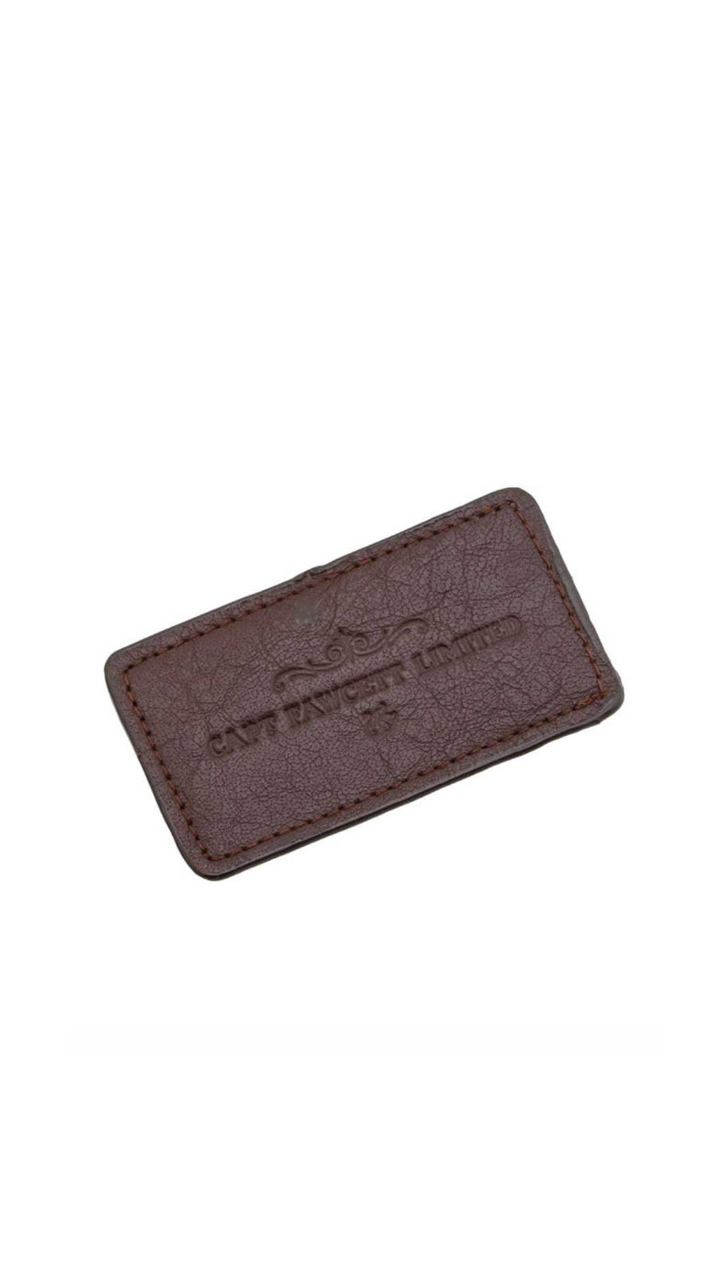 LEATHER SLEEVE FOR MOUSTACHE COMB - ÉTUI CUIR PEIGNE MOUSTACHE - CAPTAIN FAWCETT